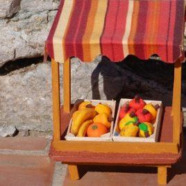 Présentoir à tissu fruits